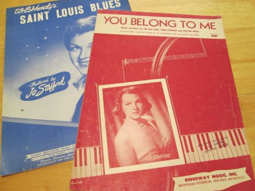 2-vintage-jo-stafford-sheet-music-you-belong-to-me-saint-louise-blues-1952-vg-611e4f24f58019bb4d5ef913f69278bb