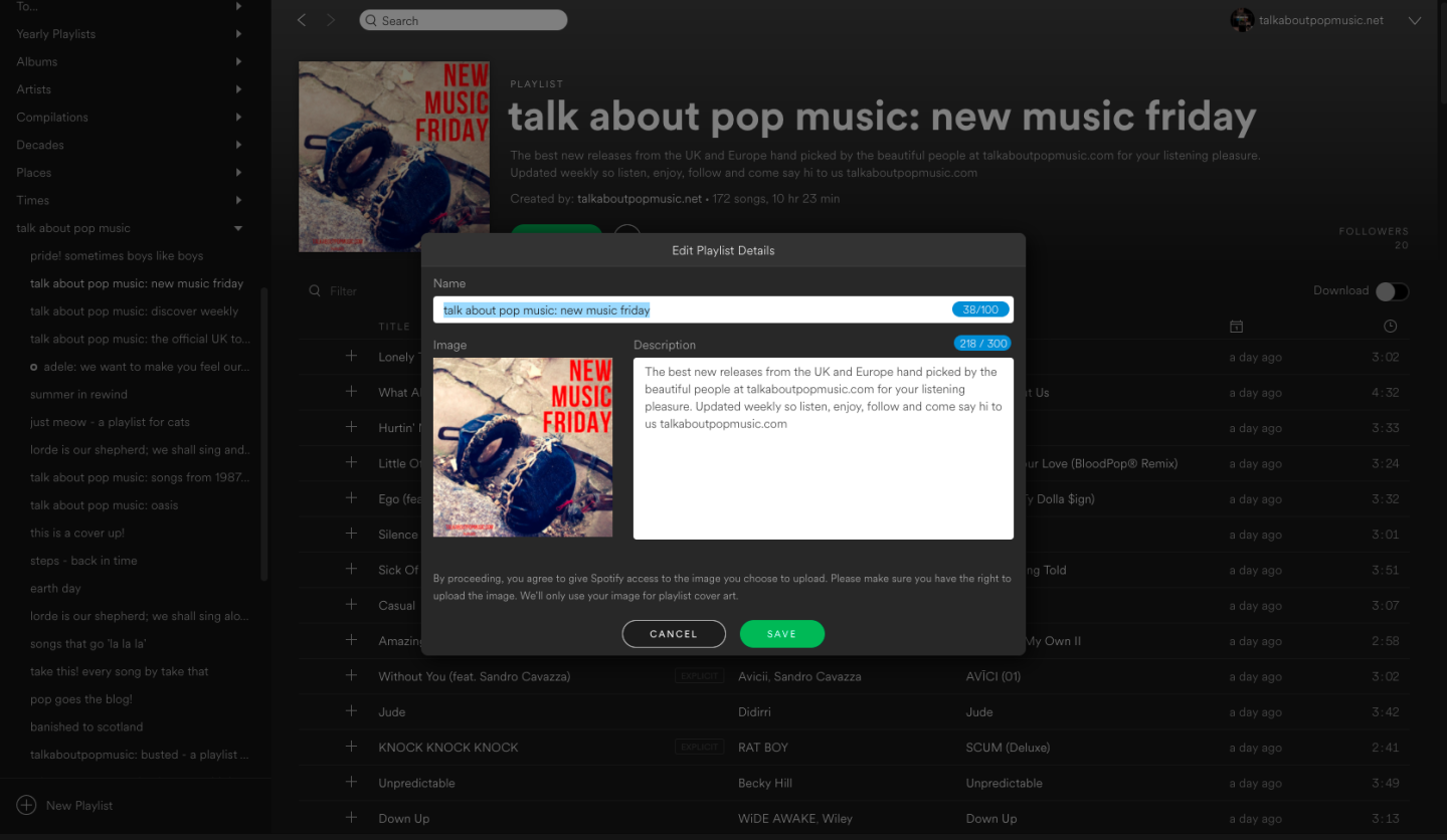 Customise Spotify Playlist Images