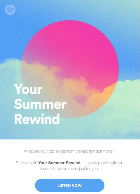 Spotify Summer Rewind