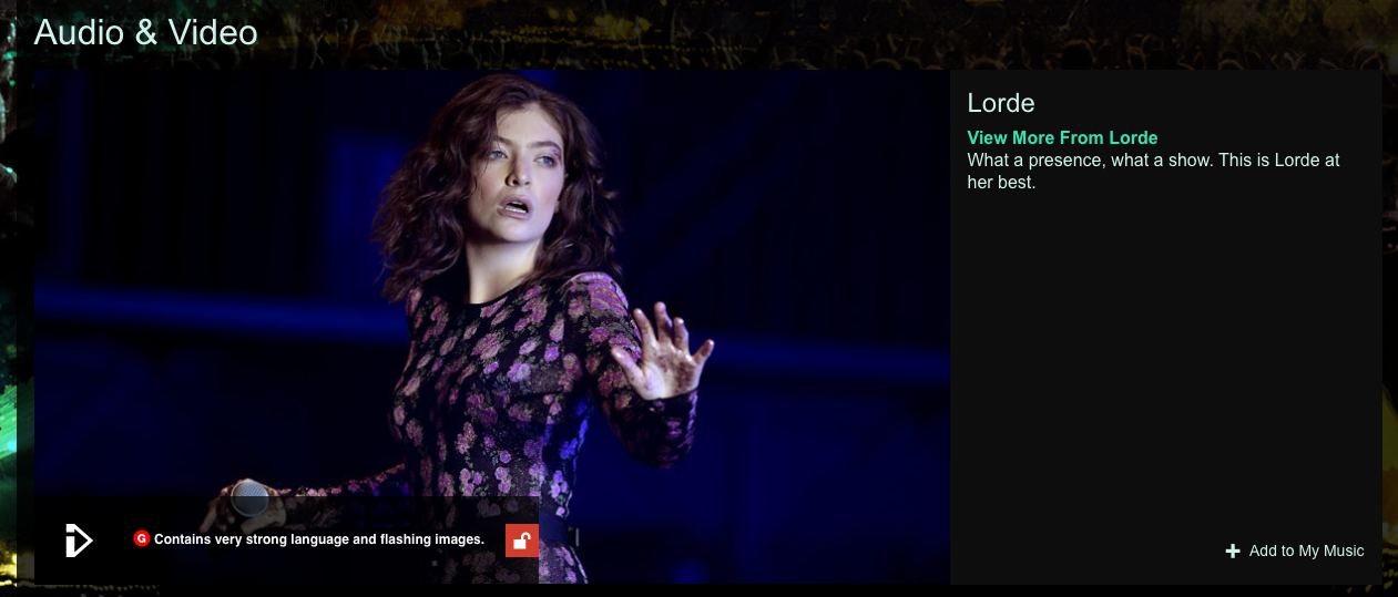 Lorde Glastonbury 2017
