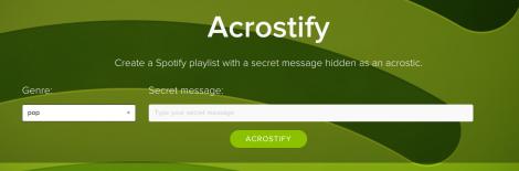 Acrostify