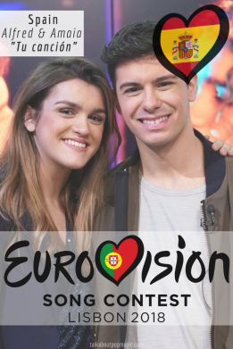 EUROVISION SONG CONTEST 2018: SPAIN – 'TU CANCIÓN' BY ALFRED & AMAIA