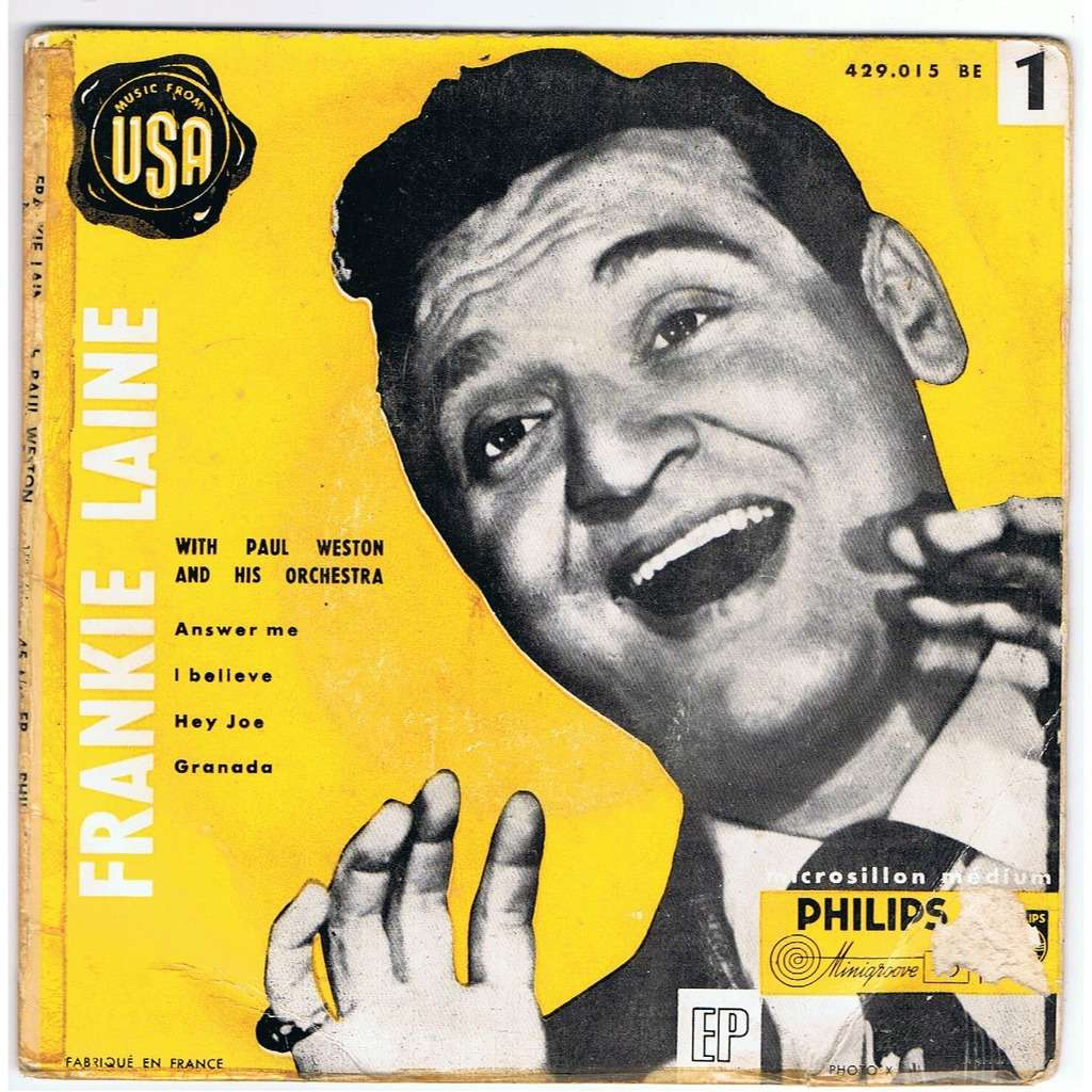 EVERY UK NUMBER ONE SONG: 'Answer Me' - Frankie Laine