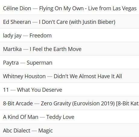 STOP! LOOK! PLAYLIST! 16th June 2019